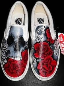 skull painted shoes - Bing Images
