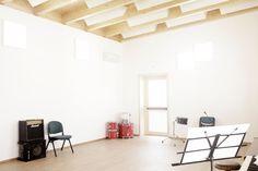Scuola di Musica, Finale Emilia, Tipi Studio, Fondazione C.G. Andreoli, Solidarietà Vigolana Onlus, xlam, wood, interiors, Lourdes Cabrera photography