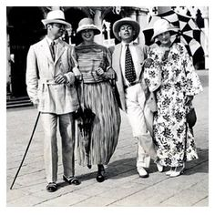 Venice 1923, (Left to Right) Gerald Murphy, Ginny Carpenter, Cole Porter, and (Gerald's wife) Sara Murphy