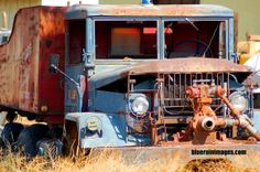 Old & Rusty by bluerainimages.,,an old fire truck