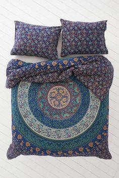 Indian Mandala Quilt Duvet Cover Reversible Bedding Cotton Doona Cover Bed Set
