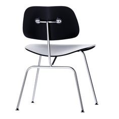 Charles+and+Ray+Eames+frequently+created+variations+of+their+chair+designs+by+combining+one+seat+shell+with+different+base+frames.+The+Plywood+Group,+to+which+this+dining+chair+belongs,+is+available+with+either+chromed+tubular+steel+or+wood+base+frames,+hence+DCM+–+Dining+Chair+Metal+–+or+DCW+–+Dining+Chair+Wood.+The+moulded+wood+laminate+seat+and+backrest+echoes+the+shape+of+the+human+body,+making+these+chairs+extremely+comfortable.
