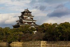 Inspiration for the rural castle of the Norgaard Estate. Character And Setting, Hiroshima, Castle, Tower, Profile, Japan, Building, Travel, Inspiration