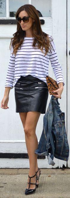 1d42fd951 135 mejores imágenes de faldas cuero en 2018 | Moda de cuero, Moda ...