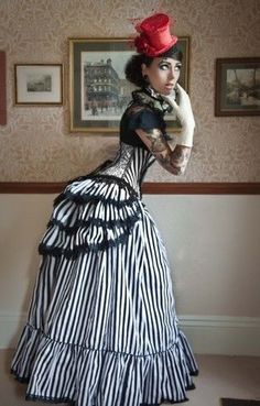 Lovechild Boudoir Victorian Whitby Steampunk Gothic Governess Skirt Bustle | eBay