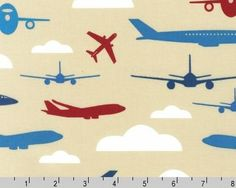 Boy Toys  Adventure planes by Print & Pattern from by JAQSFabrics, $9.50