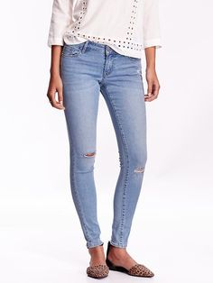 Women's Low-Rise Rockstar Skinny Jeans Product Image