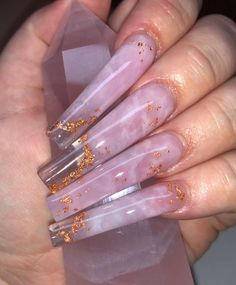 23 Clear Acrylic Nails That Are Super Trendy Right Now Acrylic Nails Coffin Pink, Long Square Acrylic Nails, Summer Acrylic Nails, Marble Nails, Summer Nails, Edgy Nails, Stylish Nails, Swag Nails, Drip Nails