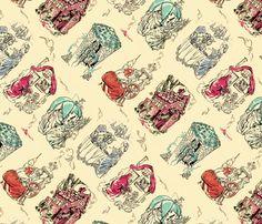 Fairy tale toile fabric by hannafate on Spoonflower - custom fabric