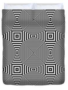 Flickering geometric optical illusion Queen Duvet Cover by Natalia Bykova at FineArtAmerica. #duvetcover, #opticalillusion