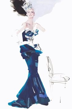Das kanadische Model Linda Evangelista: Für Downton trägt sie Krone.