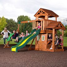 LOVE this one, then we don't have to get a playhouse too  Walmart: Backyard Discovery Tanglewood Cedar Wood Swing Set