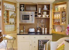 Best Tiny House Kitchen and Small Kitchen Design Ideas Kitchen Cabinet Storage, Kitchen Cabinet Design, Interior Design Kitchen, Drawer Storage, Storage Cabinets, Kitchen Organization, Organization Ideas, Larder Cupboard, Storage Units