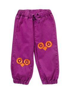 ej sikke lej Colored Owl Eyes Pants Plum