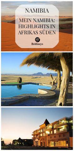 Informationen zur perfekten Namibia Rundreise. Die beste Route für die erste Namibia Reise. Die top Highlights des südafrikanischen Landes. Hoteltipps (Wüstenlodges, Busch-Camps, Guesthouses, Luxus Camps) Diamanten kaufen, Tiere beobachten, die Wüste, das Essen. #Namibia #Namib #Afrika #Wüste #BigFive #Etosha #Swakopmund #Windhuk.