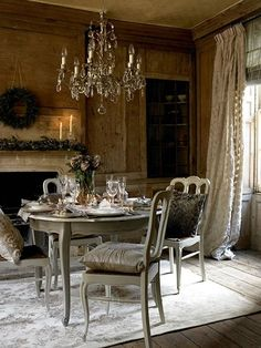 dining french country house french country decorating french decor country homes rustic - French Style Christmas Decorations