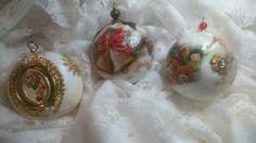 Borlas navideñas.  Realizado completamente a mano.  Diseño exclusivo de Azúcar,  Hogar y Diseño.