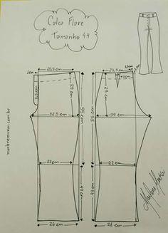 Calça leg  Calça leg Mccalls Patterns, Dress Sewing Patterns, Sewing Patterns Free, Clothing Patterns, Pants Pattern Free, Sewing Pants, B Fashion, Anorak Jacket, T Shirt Diy