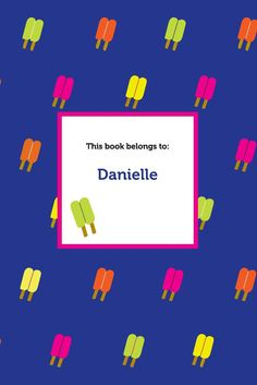 Show off your name front-and-center with a custom journal personalized with a colorful cover and ready to be filled with your thoughts, inspirations, and artwork. Danielle's notebook has 100 white, bound pages waiting to be filled by YOU!