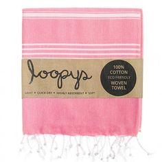 Loopys Fuscia Pink Aztec Tribal Turkish Beach Pool Bath Towel Cotton Throw Fouta