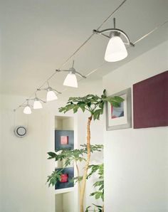 cable track lighting systems tension wire track or pendant light