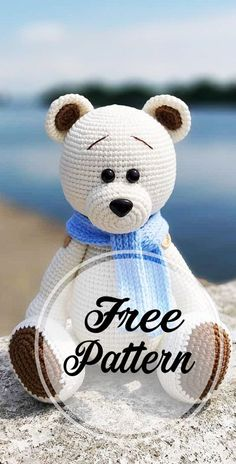 Awesome Free Amigurumi Bear Pattern Idea Very Cute: Hello friends. I found a beautiful white bear for you today. I hope you will like it. Use this free amigurumi bear pattern to crochet your own cute white bear! The legs and arms can move, they are Crochet Amigurumi Free Patterns, Crochet Animal Patterns, Stuffed Animal Patterns, Crochet Animals, Crochet Dolls, Crochet Teddy Bear Pattern Free, Knitting Patterns, Knit Crochet, Crochet Doll Pattern
