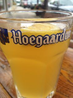 It may not be a proprietary Hoegarden design, but ever since my trip to Scandinavia in 2010 I always associate this type of glass, whether it be labeled or not to Hoegaarden.  That's just good marketing....plus it's big!