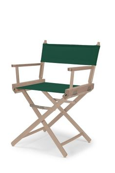 Telescope Casual Heritage Dining Height Director Chair, Rustic Grey Finish with Forest Green Canvas Fabric