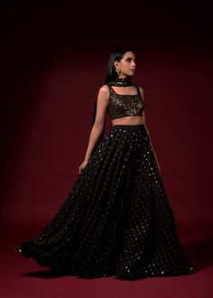 Flaunt your fashionista status wearing Vvani by Vani Vats at upcoming wedding soirees . Whatsapp us now for personal shopping experience! Indian Gowns Dresses, Indian Fashion Dresses, Indian Designer Outfits, Lehnga Dress, Lehenga Choli, Sharara, Bridal Lehenga, Sarees, Sangeet Outfit
