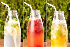 refrigerante caseiro, água com gás, água gasosa, gaseificada, frutas, como fazer