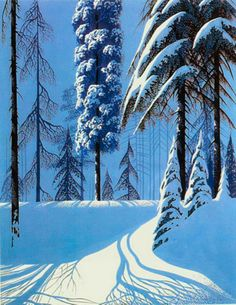 """Winter Trees"" by Eyvind Earle"