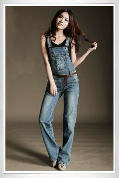LOVE these overalls with the slim leather belt....perfect!