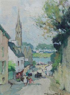 Georges Charles Robin (1903-2003) ~  Rue de l'Eglise Bénodet Finistère