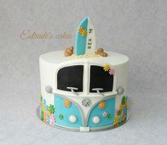 Estrade's cakes: tarta hippie-surfera para un cumpeaños.
