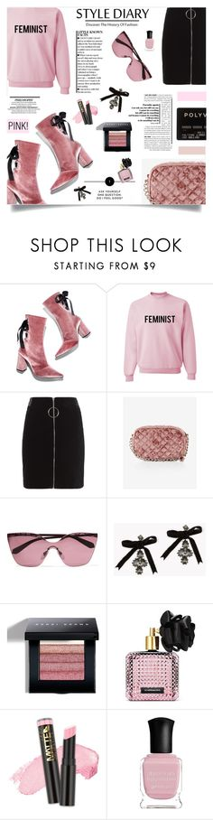 """""""PINK!"""" by ztugceuslu ❤ liked on Polyvore featuring Robert Clergerie, Thierry Mugler, Express, Bulgari, Dsquared2, Bobbi Brown Cosmetics, Victoria's Secret, L.A. Girl, Deborah Lippmann and StreetStyle"""