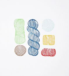 And speaking of hand-carved yarn art -- not only are these yarn skein prints by Olivia of atiliay beautiful, customizable, and wildly affordable, part of the proceeds goes to Knots of Love