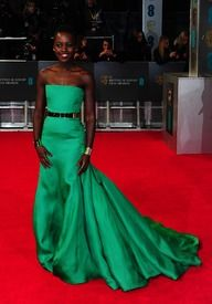 Lupita Nyong'o 2014 BAFTAs... beautiful!