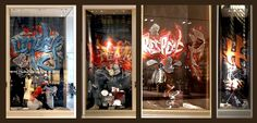 Graffiti - Hermès Window Display on Behance