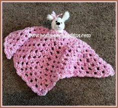 Fuzzy Blanket Lovey Bear