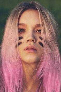 pink hair football stripes                                                                                                                                                                                 More