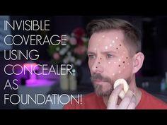 Concealer As Foundation Beauty Tutorials, Beauty Hacks, Beauty Tips, Best Makeup Tips, Best Makeup Products, Using Concealer, Wayne Goss, Foundation Tips, Perfect Lipstick