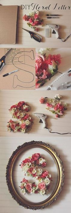 DIY Floral Letter - 35 creative DIY letters in life ♥ ♥ . - nature - fashion - travel passion - craft - DIY Floral Letter – 35 creative DIY letters in life ♥ ♥ – - Flower Letters, Diy Letters, Diy Wedding Letters, Flower Wall, Decorative Letters For Wall, Baby Room Letters, Nursery Letters Girl, Life Flower, Letter Wall Art
