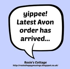 Yaaay! Latest Avon Order Arrived!