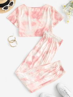 Girls Fashion Clothes, Teen Fashion Outfits, Outfits For Teens, Style Fashion, Cute Lazy Outfits, Crop Top Outfits, Cool Outfits, Tie Dye Outfits, Tie Dye T Shirts