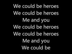 Alesso (We could be) - Heroes | Lyrics - YouTube I really like this song