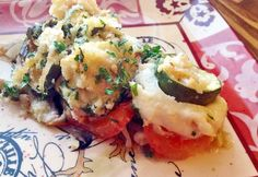 Provanszi rakott zöldség Eggplant Recipes, Vegetable Recipes, Potato Salad, Mashed Potatoes, Cauliflower, Food And Drink, Menu, Eggs, Chicken