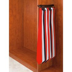 14 in. 15 Hook Satin Nickel Pull-Out Tie/Scarf Rack, Oil Rubbed Bronze