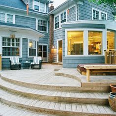 Curved Deck Design, Pictures, Remodel, Decor and Ideas Deck Steps, Contemporary Patio, Contemporary Style, Backyard Pergola, Pergola Ideas, Pergola Plans, Pergola Roof, Patio Ideas, Yard Ideas