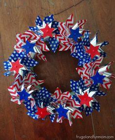 DIY Patriotic Pinwheel Wreath