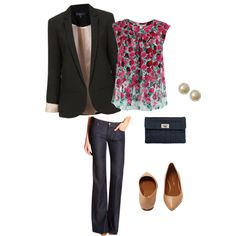 A fashion look from January 2013 featuring Marc Jacobs blouses, Topshop blazers and Fidelity Denim. Browse and shop related looks.